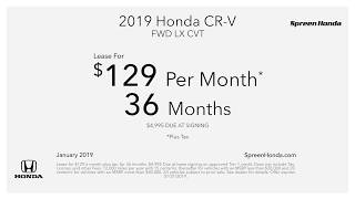 Spreen Honda Lease Specials - January 2019