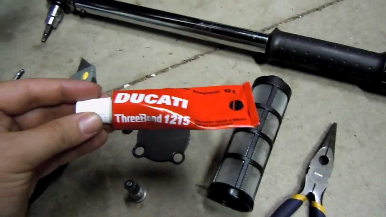 Ducati  Oil Filter Change