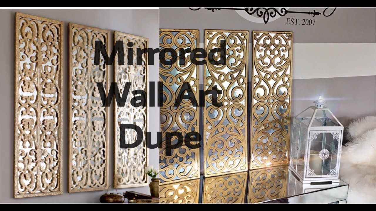 Diy Home Decor How To Make A 3 Panel Faux Mirror Wall