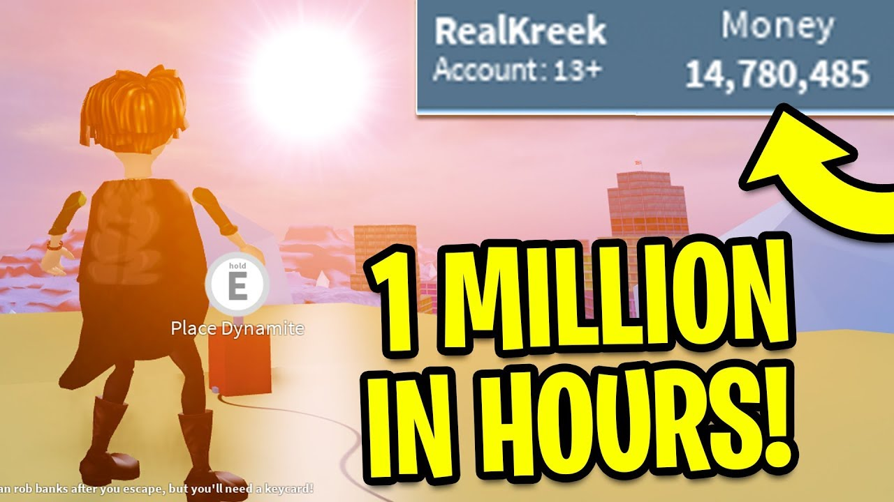 Jailbreak How To Get Money Fast 1 Million In Hours Roblox