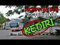 Aktifitas Bus Harapan Jaya Bus Rosalia Indah & Bus SAN di terminal Tamanan Kediri