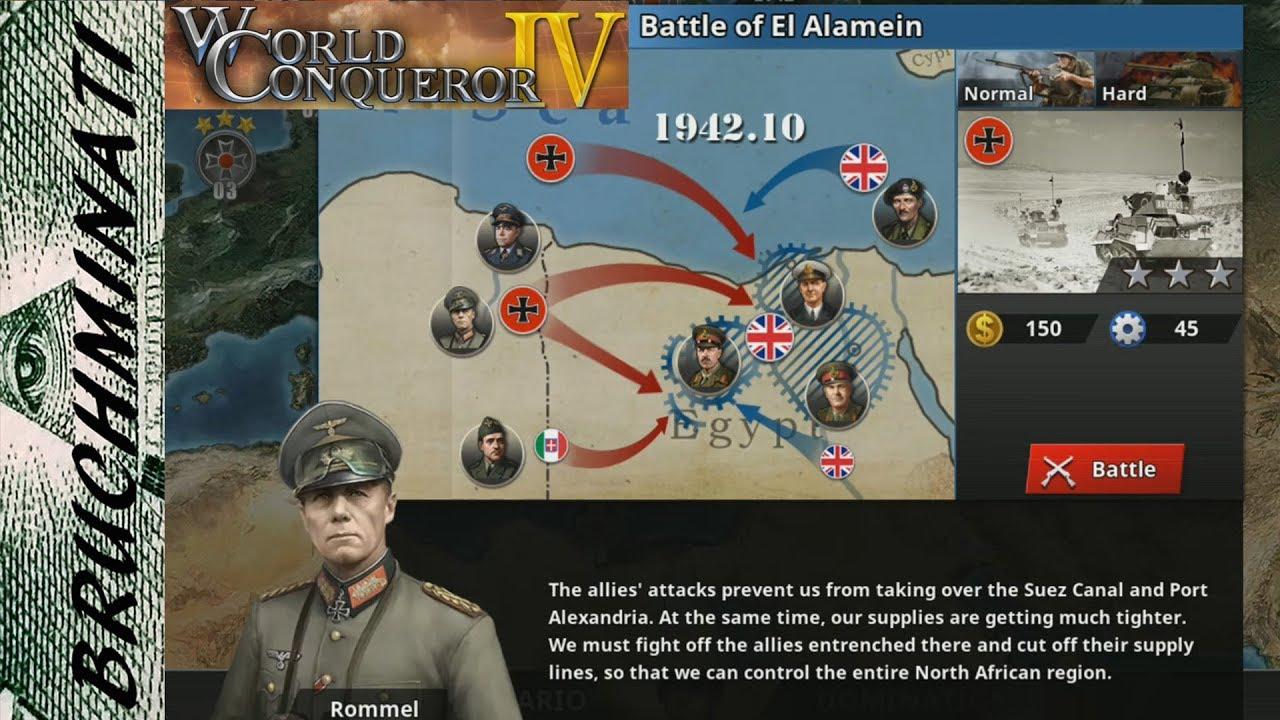 World Conqueror 4 | Axis Campaign #8 Battle of El Alamein (No Generals)