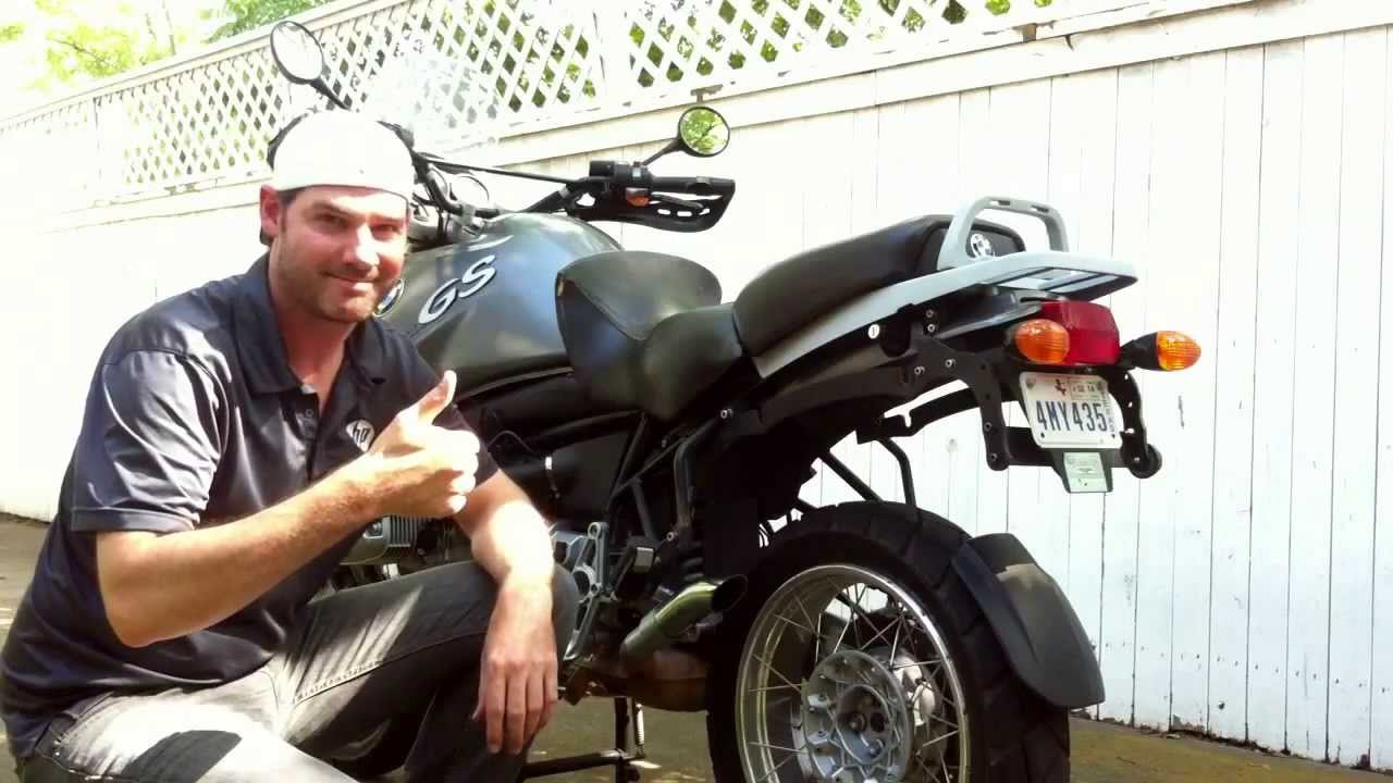 bmw r1150gs with exhaust can delete new down pipe from autozone
