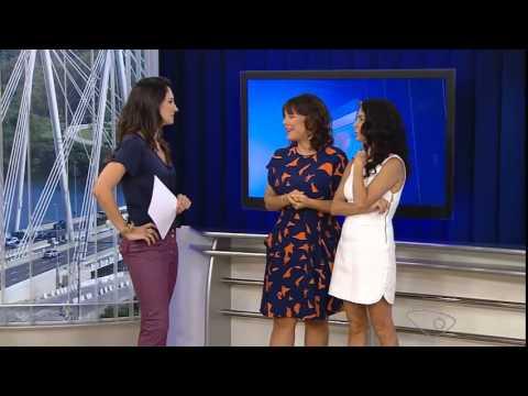 Entrevista de Cláudia Ohana e Regiane Alves ao ESTV 1a.edição - 28/02/15