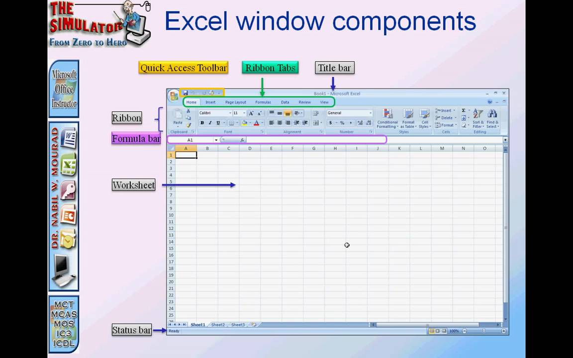 Spreadsheet Components- Excel Basic L1 -A.mp4 - YouTube