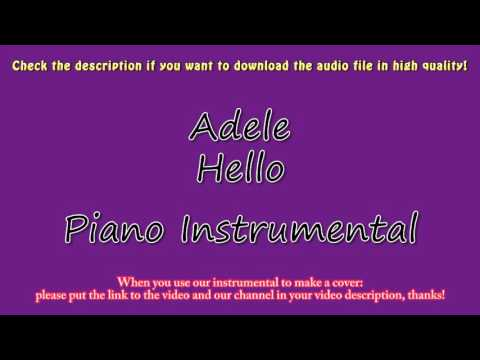 Adele - Hello [lower Key] (Piano Instrumental) Karaoke