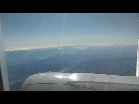 Швейцария с высоты полета Боинга