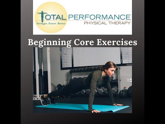 Beginning Core Exercises