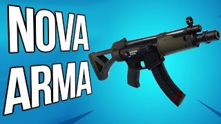 FORTNITE (NOVA ARMA SMG) - Rumo 520 Vitórias Solo!