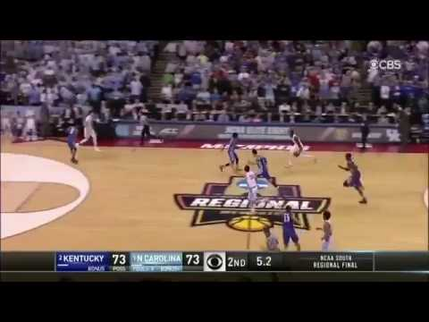 The final seconds of Kentucky vs UNC game! WHAT A GAME. LUKE MAYE IS THE CLUTCHEST PLAYER ALIVE