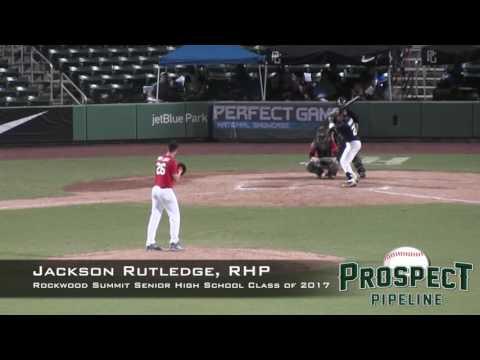 Jackson Rutledge Prospect Video, RHP, Rockwood Summit Senior High School , CF Cam