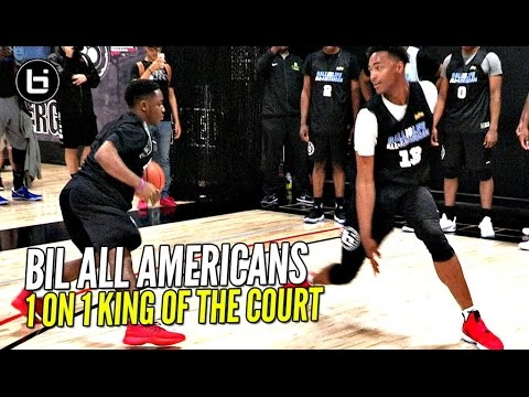 BIL All Americans 1 on 1 King of The Court! LiAngelo Ball, Chris Lykes & More! Who You Got!?