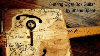 Norwegian Wood - 3-string cigar box guitar jazz
