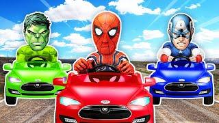 슈퍼히어로 내 자동차 어디있지 여기있네! 슈퍼 히어로 차 맞히기 챌린지 | Where is my car? superheros | 말이야와아이들