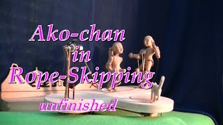 Ako-chan In Rope-skipping Unfinished 2: Wood Carving Doll: Automaton