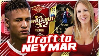 MY PACK LUCK IS INSANE! DRAFT TO NEYMAR #2 | FIFA 18