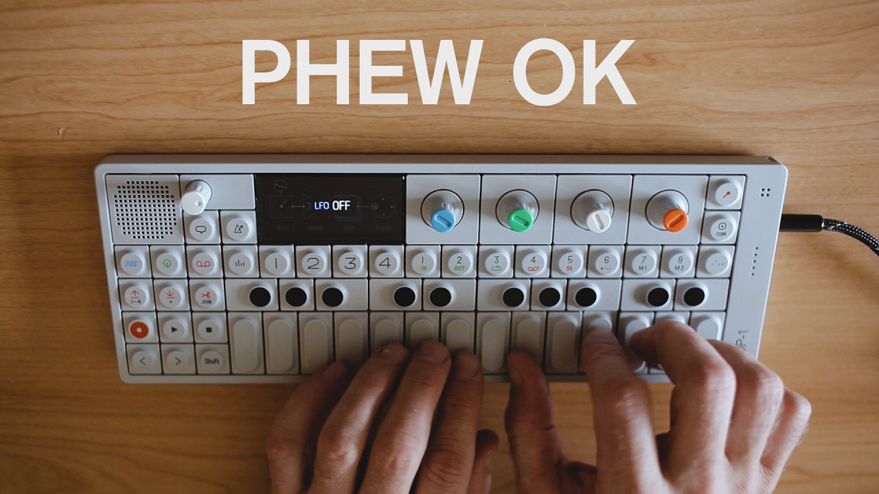 Teenage Engineering OP-1 Mini Synthesizer — Tools and Toys