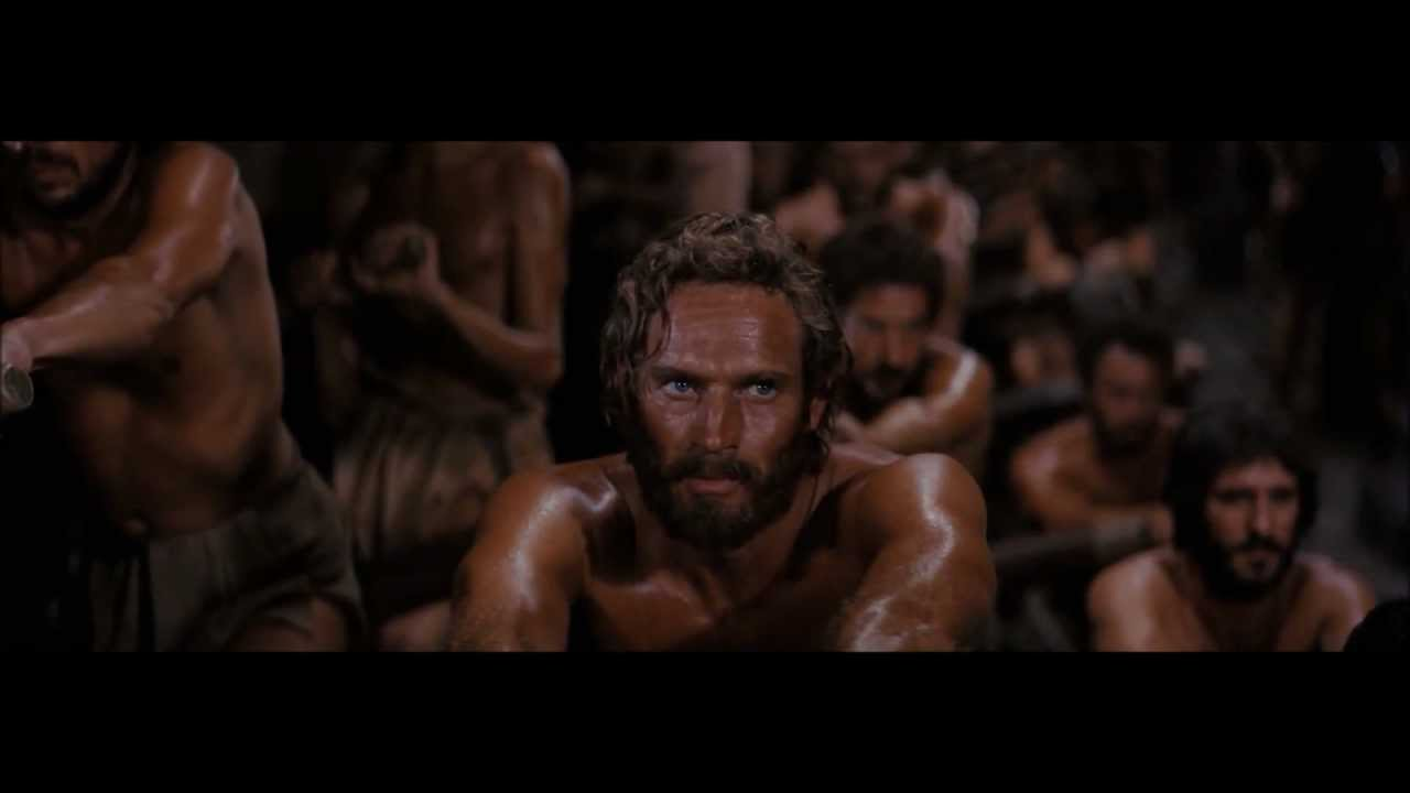 Ben Hur 1959 Rowing Of The Galley Slaves Hd Youtube