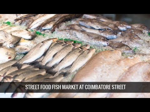 STREET FOOD SUNDAY FISH MARKET AT COIMBATORE STREET