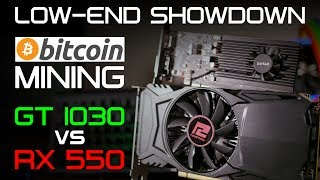 CAN YOU MAKE MONEY? - GT 1030 & RX 550 MINING PERFORMANCE