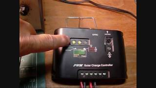 Solar Panel Charge Controller Bench Test