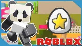 THE PANDA BEAR GAVE ME A STAR EGG!! | ROBLOX BEE SWARM SIMULATOR