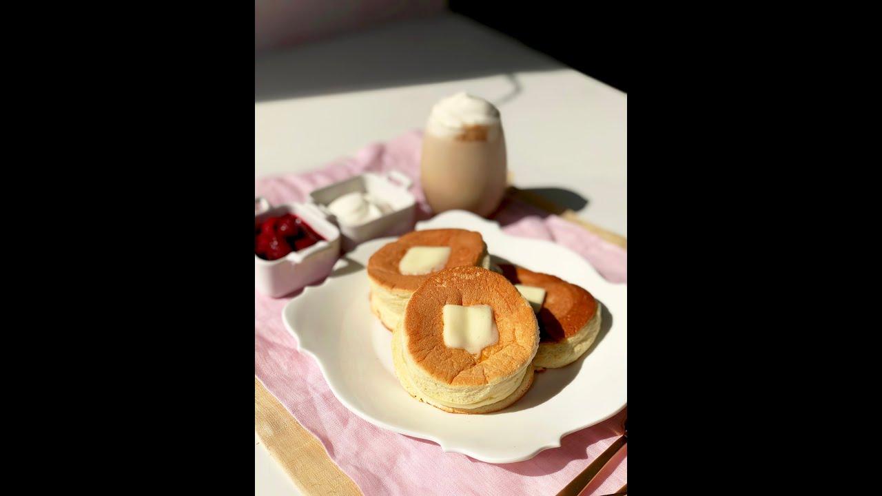 Soufflé Pancakes 🥞☕️😋😉