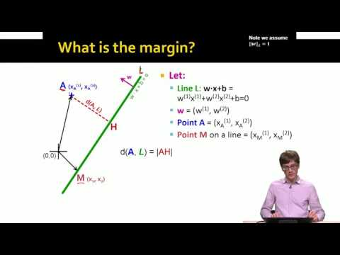 Lecture 68 — Support Vector Machines  Mathematical Formulation | Stanford