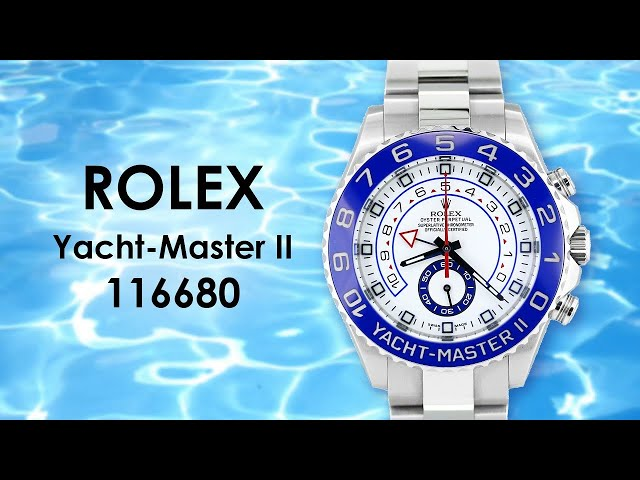 Rolex Yacht-Master II Oyster Perpetual Watch 116680 Video by Big Watch Buyers