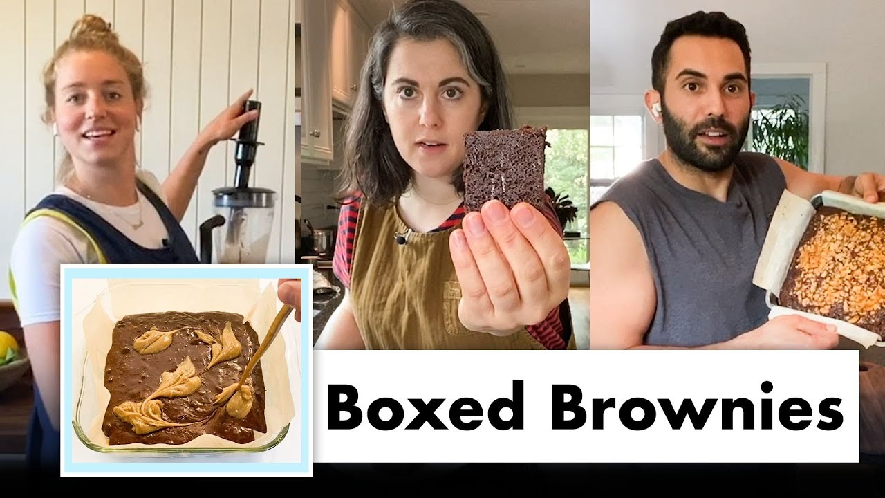 Pro Chefs Improve Boxed Brownies (8 Methods) | Test Kitchen Talks @ Home | Bon Appétit