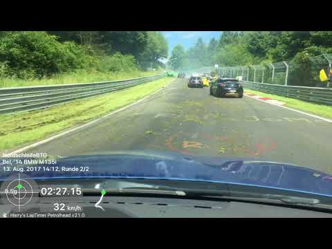 Nürburgring Oil Spill Crash 13.08.17
