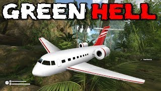Green Hell - CRASHED PLANE and COZY CAVE - Green Hell Gameplay - Ep. 3