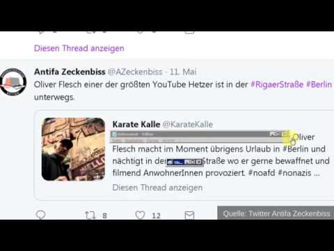 Teil 2: Antifa und Zeckenbiss VOR Überfall auf Oliver Flesch mit Ankündigungen