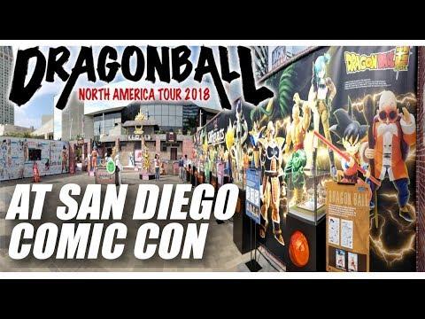 Dragon Ball North American Tour 2018 at San Diego Comic Con w/life sized FRIEZA, GOKU photobooth