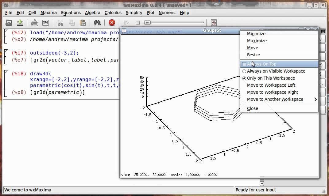 Maxima CAS 6: The Draw plugin