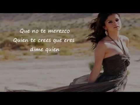 Selena Gomez - Dices Letra/Lyrics (Who Says Spanish Version)