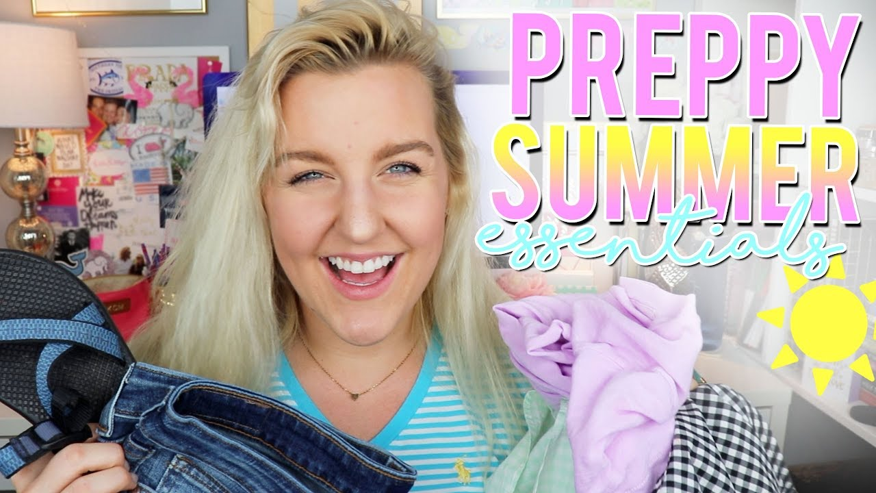 d921f426cc29 PREPPY SUMMER ESSENTIALS 2018   HOW TO STYLE THEM (TRY-ON ...