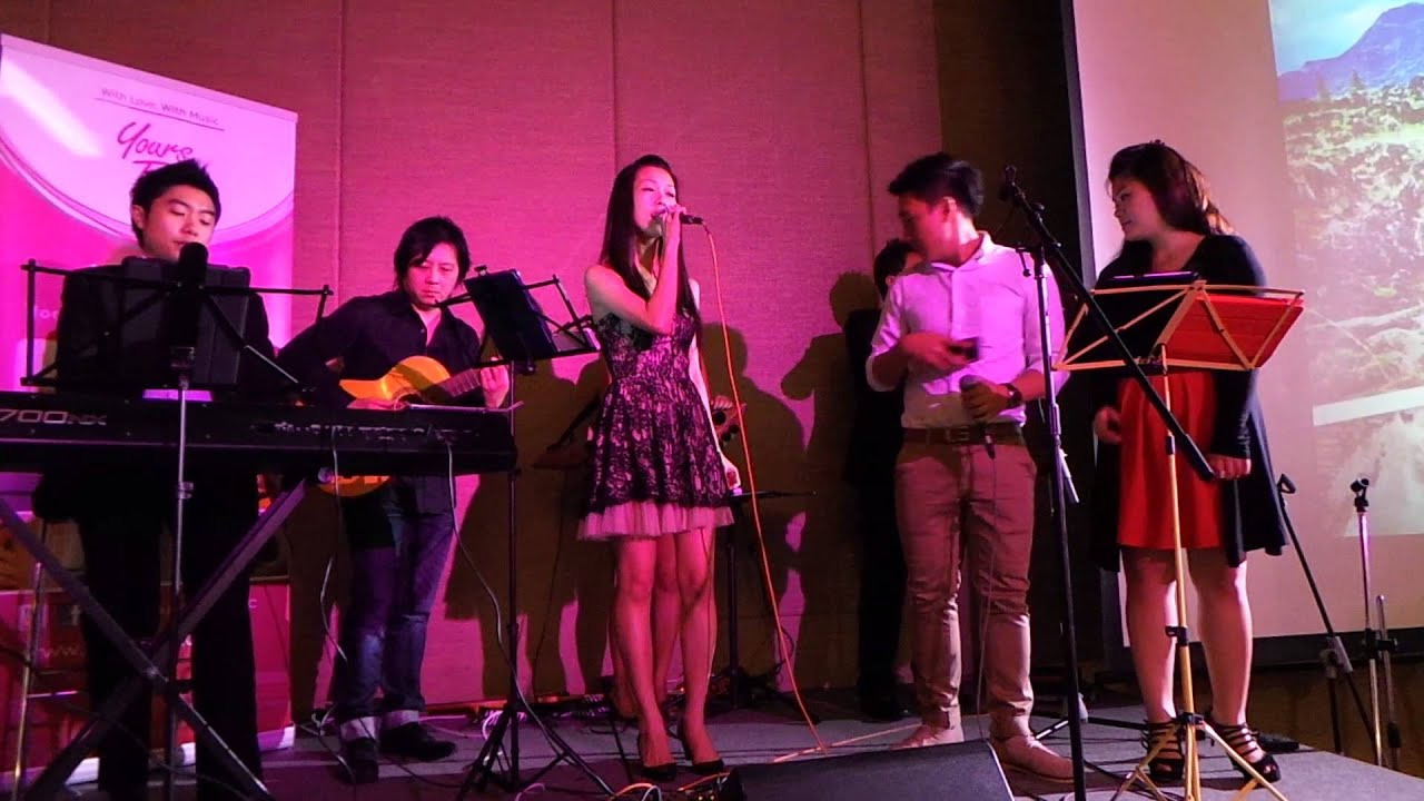 yours truly live singing 勇气 singapore live
