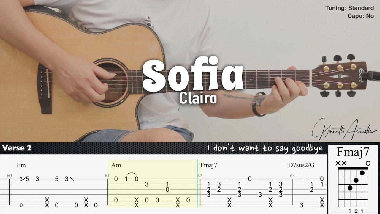 Sofia - Clairo | Fingerstyle Guitar | TAB + Chords + Lyrics