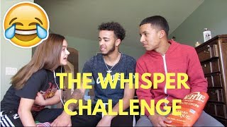 THE WHISPER CHALLENGE WITH MY LIL BRO & SIS !!! 🤣 🤣 ( JERZI IS GOOOFY)