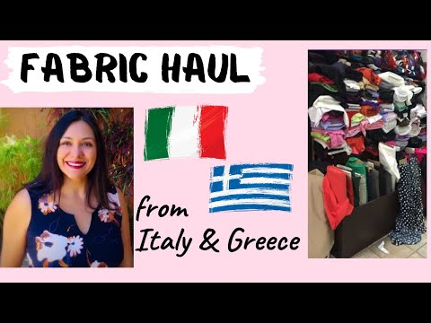Special Fabric Haul: Italy & Greece Edition. Plus an announcement.