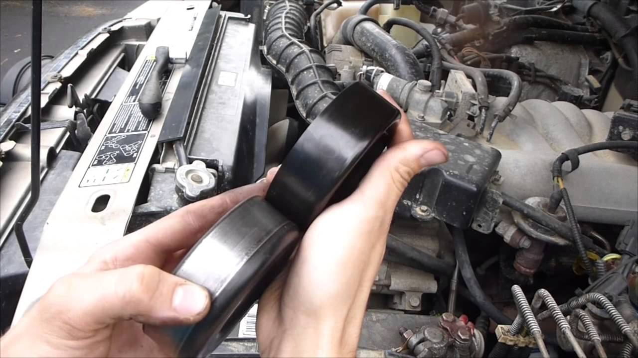 Idler Pulley How To Replace Easy And Cheap Youtube Help Trying Fit A V Belt Without Compressorv6beltdiagramjpg