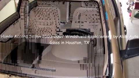 Honda Accord Sedan 2003-2007 Windshield Replacement