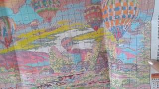 Набор для вышивки крестиком Balloon Glow Воздушные шары китайский вариант.