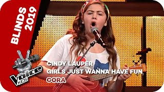 Cyndi Lauper - Girls Just Want To Have Fun (Cora)   Blind Auditions   The Voice Kids 2019   SAT.1