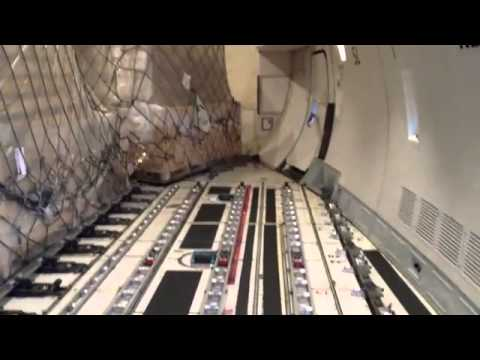 Eva Air Cargo 747 inside main deck   YouTube