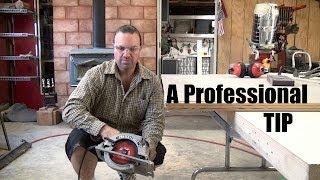 Advanced Circular Saw Technique *cut Backwards In-depth *a Tip For Pro Carpenters