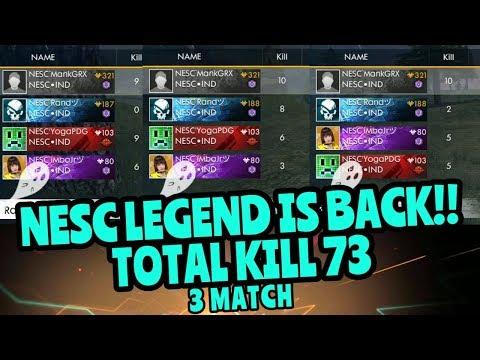 NESC LEGEND GAMEPLAY KILL 73 (3MATCH)!! - FREE FIRE BATTLEGROUND