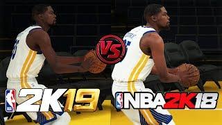 NBA 2K19 vs NBA 2K18 Kevin Durant Shooting/Dunking Animation Comparison thumbnail