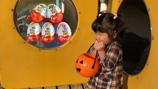 公園でサプライズエッグを見つけよう!Kinder Surprise Eggs Pororo